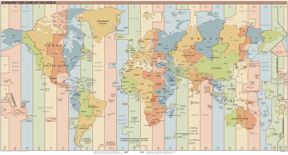 1200px Standard World Time Zones