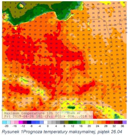 Komunikat prasowy IMGW-PIB: Prognoza pogody na najbliższy weekend
