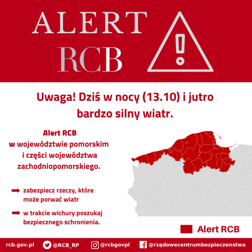 You are currently viewing Alert RCB: bardzo silny wiatr (13.10)