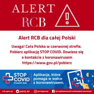 ALERT RCB: aplikacja STOP COVID