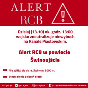 Alert RCB: neutralizacja niewybuchu w Świnoujściu – aktualizacja