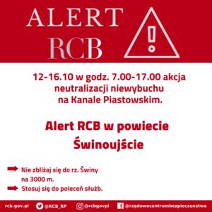 Alert RCB – w Świnoujściu neutralizacja niewybuchu
