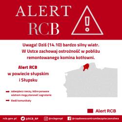 Alert RCB: Słupsk i powiat słupski (14 października)
