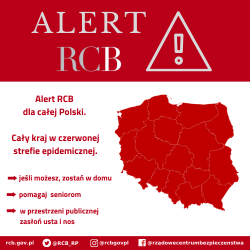 Alert RCB: Cała Polska w czerwonej strefie
