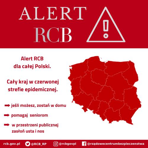 You are currently viewing Alert RCB: Cała Polska w czerwonej strefie