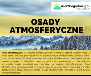 Osady atmosferyczne – Infografika