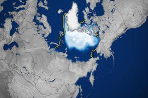 Powolny start zamarzania lodu na Morzu Arktycznym