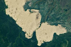 Niespodziewany obszar piasku na Alasce
