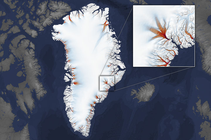 Kurczące się krańce Grenlandii