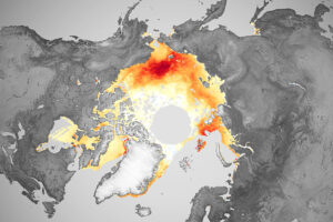 Długi spadek lodu w Morzu Arktycznym