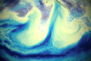 Silne rzeki atmosferyczne zalewają północno-zachodni Pacyfik
