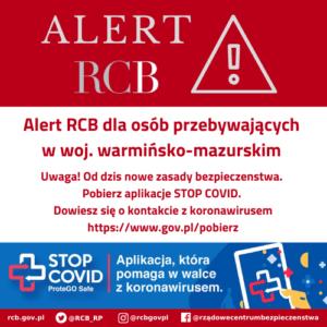 Alert RCB: Pobierz aplikację STOP COVID