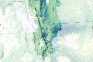 Czas topnienia śniegu w pobliżu Wielkiego Jeziora Słonego