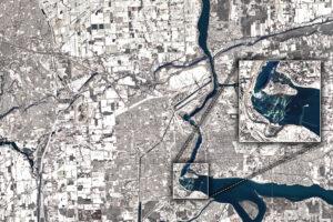 Zima wzdłuż rzeki Niagara