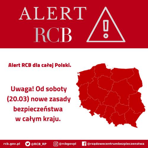 Alert RCB – nowe zasady bezpieczeństwa w całym kraju