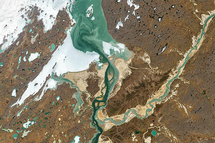 Kolorowe zbieżność w kanadyjskiej Arktyce