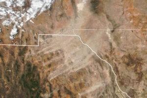 Długotrwała burza pyłowa z Chihuahua