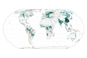 Zielony krajobraz zmienia przepływ powietrza