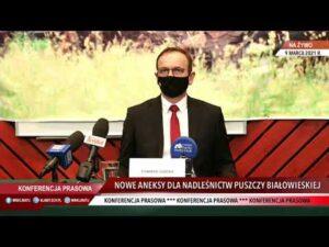 """Konferencja prasowa """"Nowe aneksy dla Nadleśnictw Puszczy Białowieskiej"""""""