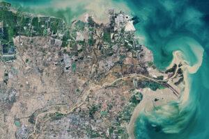 Budowanie delty Żółtej Rzeki