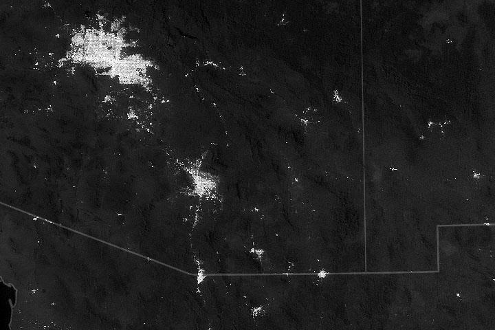 Eksperymenty z lampami nocnymi w Tucson
