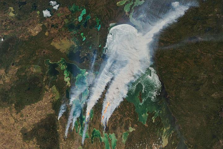 You are currently viewing Dym zastępuje lód nad jeziorem Winnipeg