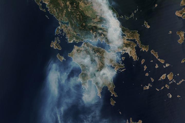 You are currently viewing Pożar pochłania duże połacie Grecji