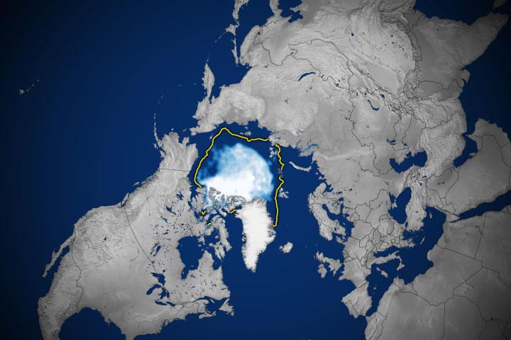 You are currently viewing Lód na Morzu Arktycznym 12. najniższy w historii